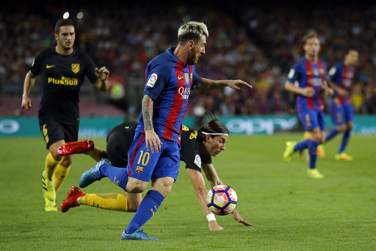 Barcelona y Atlético se vieron las caras