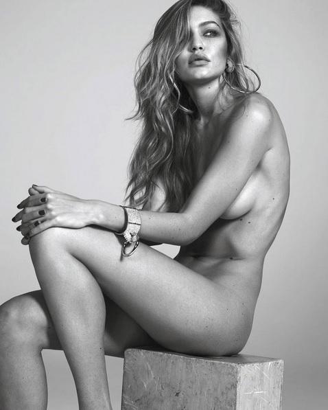 Gigi Hadid se desnuda para una campaña