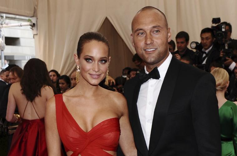 Derek Jeter y su esposa Hannah esperan a su primera hija