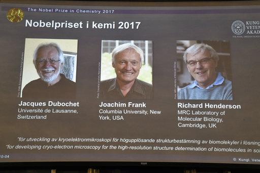 Tres investigadores de microscopía biomolecular ganan el Nobel de Química