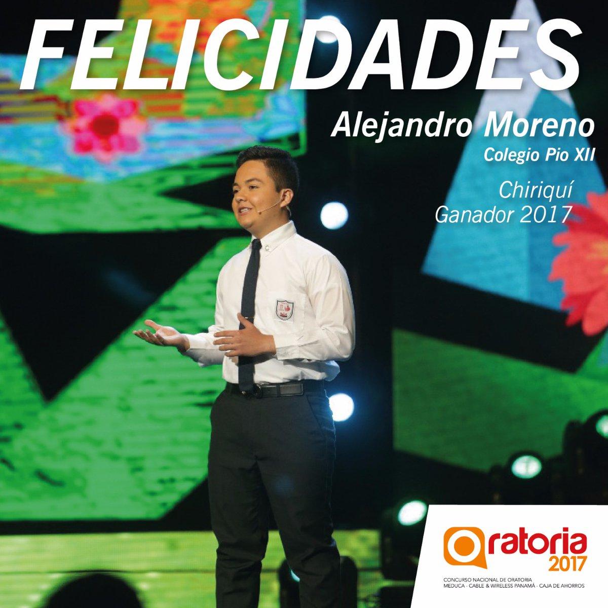 Alejandro Moreno gana el Concurso Nacional de Oratoria 2017