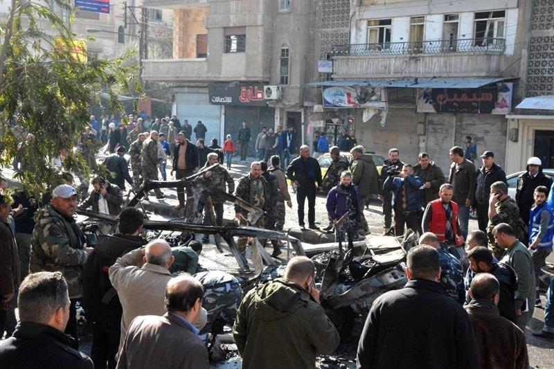Siete muertos en explosión autobús en ciudad siria de Homs