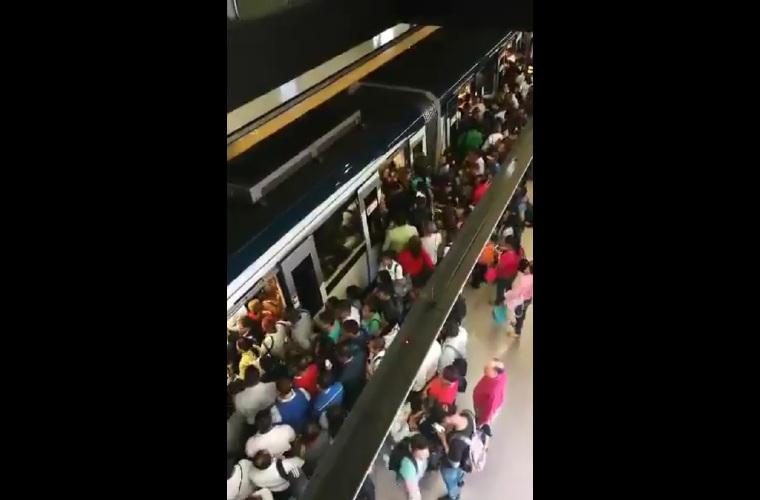 Con menos frecuencia de trenes opera hoy el Metro de Panamá