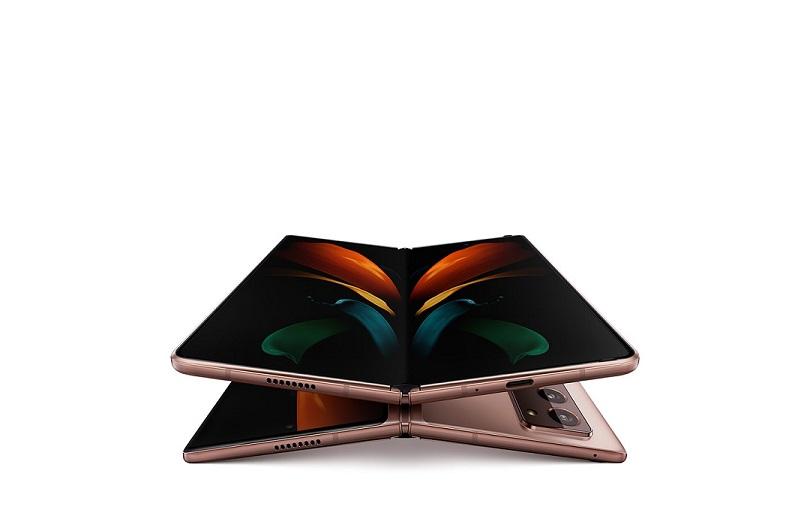 El Samsung Galaxy ZFold 2 integra dos pantallas. Imagen: Samsung