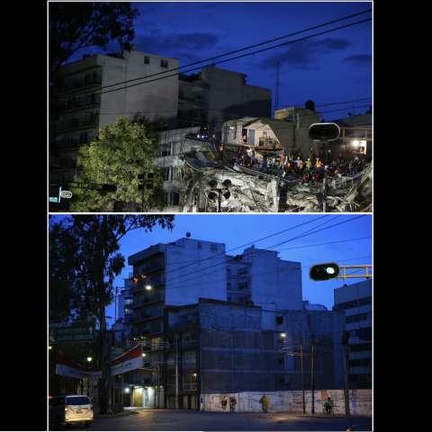 La demolición de cientos de estructuras inestables se ha visto demorada por obstáculos legales y físicos, mientras que algunos propietarios realizaron renovaciones cosméticas. AP