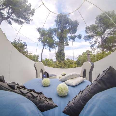 Las habitaciones burbuja están situadas en pinares, pequeños valles, bosques, viñas y colinas y, a veces, cerca de excepcionales parques naturales. EFE