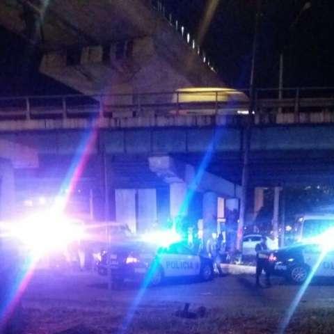Imagen de la captura debajo del puente vehícular de San Miguelito.  /  Foto: @TraficoCPanama