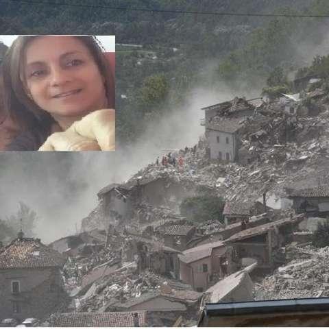 Foto combinación del área del sismo en Italia y Lourdes Weeks (Der) junto a la ingeniera mecánica Anastasia Bracovich (Izq).  /  Foto: EFE y cortesía