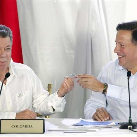La reunión entre Varela y Santos fue acordada el pasado septiembre durante la Asamblea General de la ONU.  /  Foto: EFE