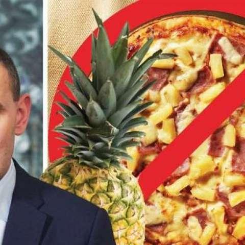 El portal MSN ilustró la información con la foto del mandatario, junto a una pizza de piña