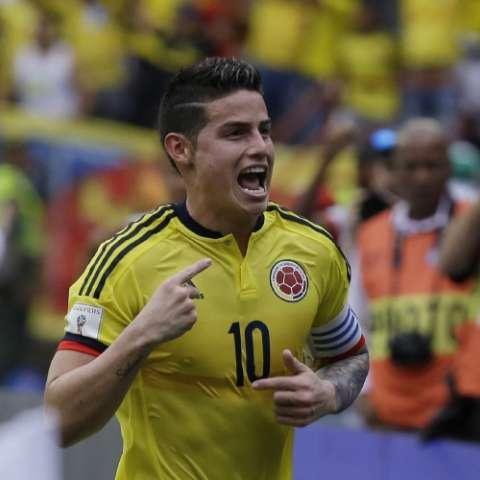 James Rodríguez anotó. Foto: AP