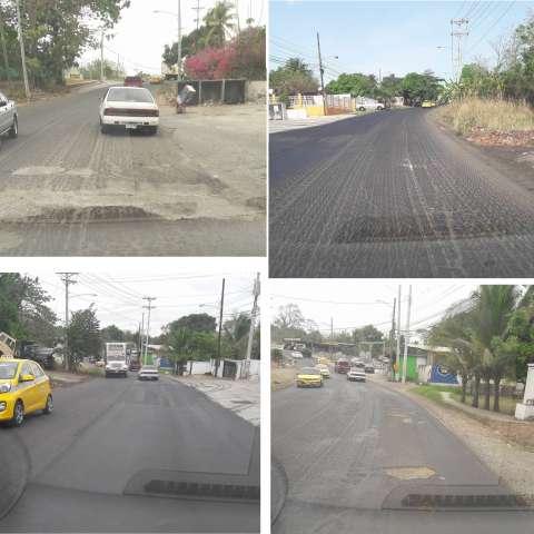 Vista general del estado actual de la antigua vía Panamericana.  /  Fotos: WhatsAppCri