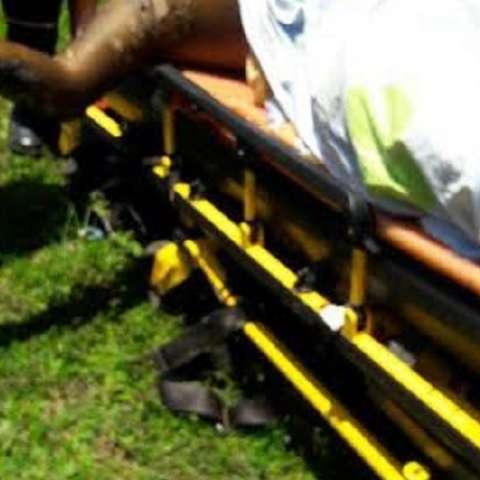 En este estado fue trasladado al hospital, después del rescate.  Fotos Delfia Cortez Corresponsal