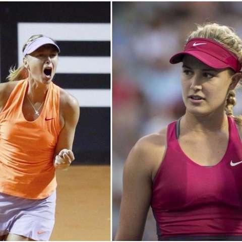 Sharapova (izq.) regresó a la competencia luego de su sanción por dopaje. Bouchard (derecha) considera que no es correcto que se le permita competir. Fotos EFE - AP