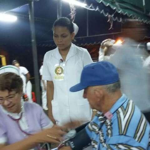 Las constantes jornadas de salud permiten medir la condición de salud de los asistentes. José Vásquez