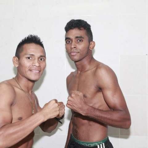 Pedroza (izq.) y Herrera encabezan el programa de boxeo. Foto: Anayansi Gamez
