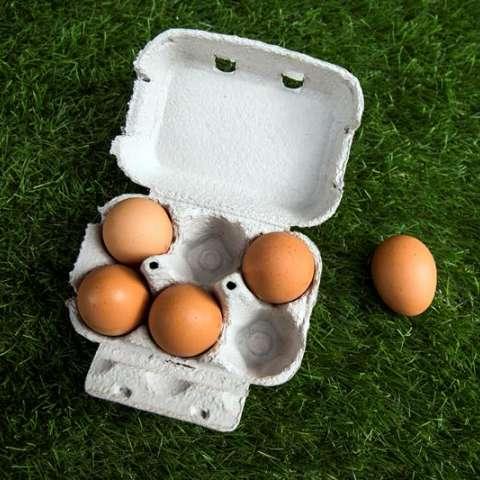 Vista de un cartón de huevos de un supermercado en París, Francia. EFE/Archivo