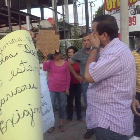 Realizan protesta. José Manuel Adames