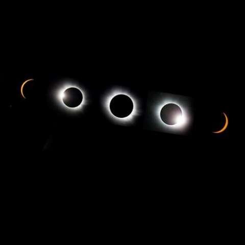 Eclipse total de sol.  /  Imagen: EFE