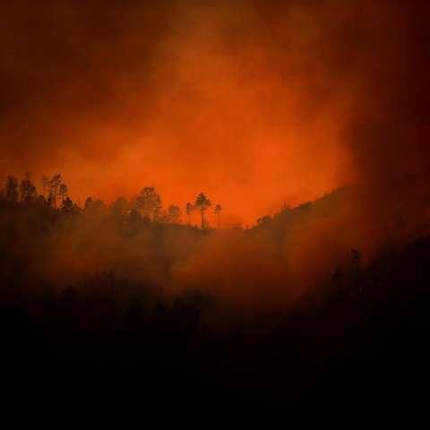 Vista general de las llamas de un incendio forestal en el Parque nacional de Peneda-Gerês, en el Norte de Portugal. EFE/Archivo