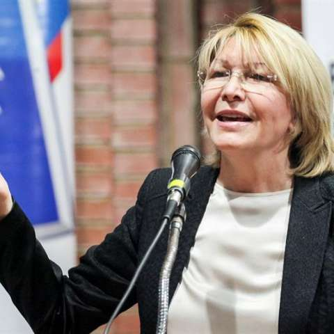 En la imagen un registro de Luisa Ortega, la exfiscal venezolana, destituida por la cuestionada Asamblea Nacional Constituyente. EFE/Archivo