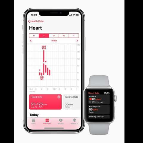 Fotografìa cedida por Apple Inc. que muestra el iPhone X de Apple y el Apple Watch Series 3, presentados en el nuevo teatro Steve Jobs. EFE