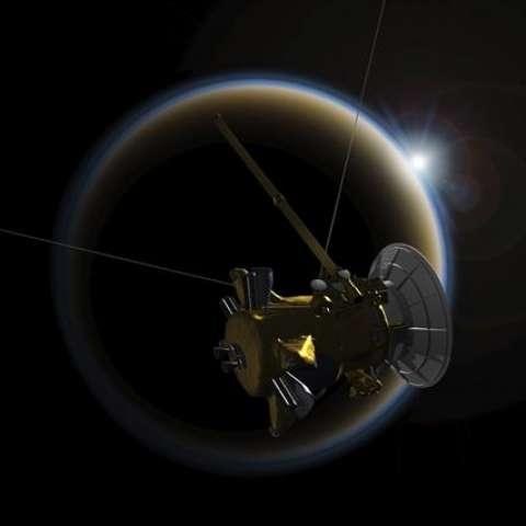 Imagen facilitada por la NASA que muestra una versión artística de la sonda Cassini. EFE