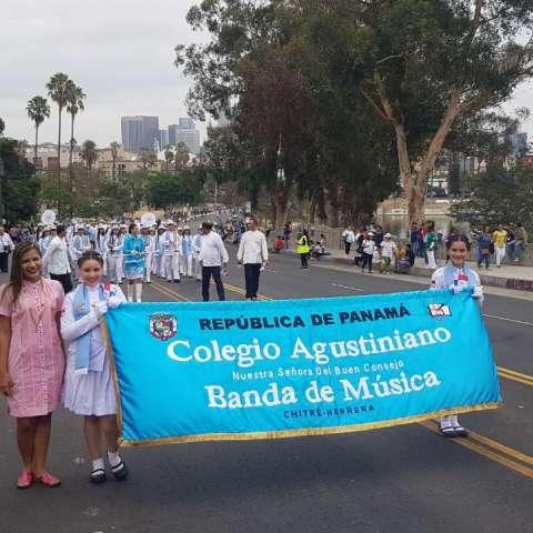 Delegación del Colegio Agustiniano Nuestra Señora del Buen Consejo de Chitré.  /  Foto: Thays Domínguez