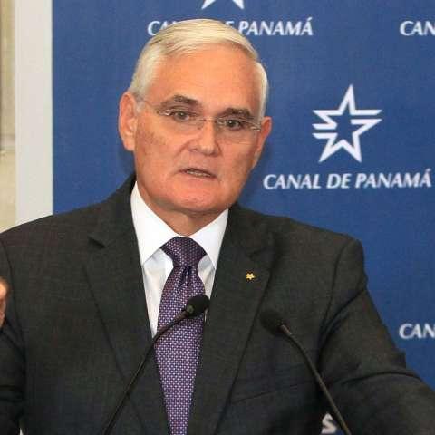 Jorge Luis Quijano, administrado del Canal de Panamá. Foto EFE