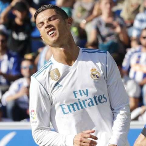 Cristiano Ronaldo está desesperado por marcar. Foto:EFE
