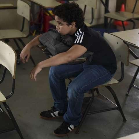 Estudiante de primaria. Foto AP