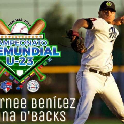 Anfernee Benítez, lanzador de los Diamondbacks de Arizona. Foto: @Fedebeisoficial