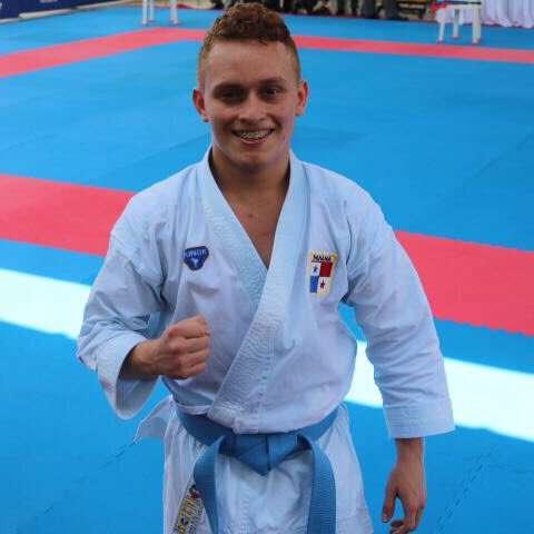 Héctor Cención, karateca panameño. Foto: Pandeportes