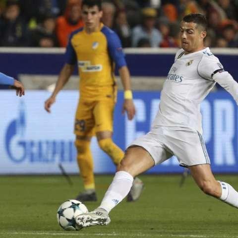 Cristiano Ronaldo se lució con dos goles en goleada de 6-0. Foto: AP
