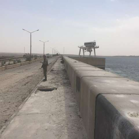 Vista de parte de la presa del Éufrates, en Siria. EFEArchivo