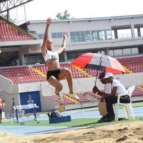 La panameña realizó su mejor marca de la prueba en el sexto y último intento. Foto: Anayansi Gamez