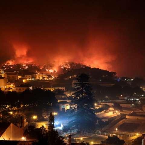 En el sur de Portugal, en la comarca de Monchique, continúa activo un incendio forestal desde el mediodía del pasado viernes, 3 de agosto, que ya ha calcinado más de un millar de hectáreas, sobre todo de eucalipto. EFE