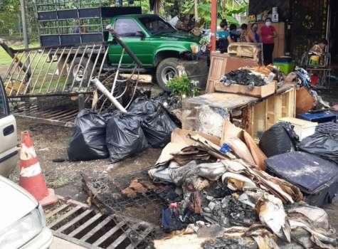 Familia chiricana casi muere calcinada tras incendio en su casa