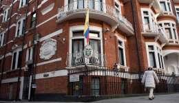 Vista de la fachada de la Embajada de Ecuador en Londres (Reino Unido) hoy, 18 de enero de 2017. EFE
