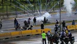 El lunes, Fabián Urbina, de 17 años, fue abatido a tiros por las fuerzas de seguridad que reprimieron una manifestación en una autopista. /  Foto: AP