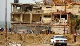 Vista de los daños ocasionados en el edificio del club de oficiales de la Policía de Al Arish (Egipto) tras un atque suicida. EFE/Archivo