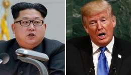Combo de fotografías de archivo del líder norcoreano Kim Jong-un (i), y del presidente de Estados Unidos, Donald Trump. EFE