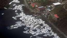 Efecto en el puerto del paso del huracán Irma y del huracán María en Tortola,Islas Vírgenes Británicas. EFE/Archivo