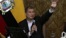 Con el escrutinio de un 98,58% de las actas electorales, el socialista Moreno obtiene un 39,33% de los votos válidos frente a 28,18% de Lasso.  /  Foto: AFP