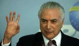 El presidente de Brasil, Michel Temer, quien inauguró este jueves en Brasilia una reunión de ministros de Relaciones Exteriores de la Comunidad de Países de Lengua Portuguesa (CPLP). Foto: EFE Archivo