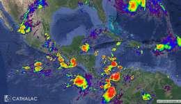 Imagen actualizada de satélite GOES infrarrojo para Centroamérica y el Caribe - animaciones: http://servir.net
