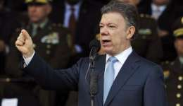 Juan Manuel Santos, presidente de Colombia.  /  Foto: AP Archivo