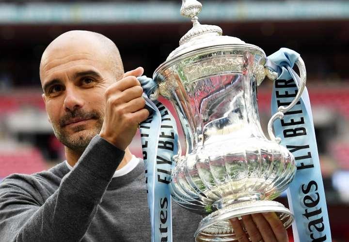 Pep Guardiola, técnico del Manchester City. /Foto: EFE