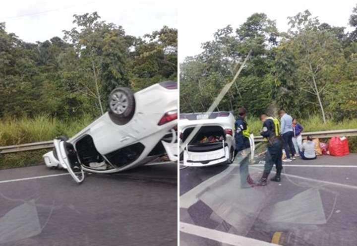 Accidente en la autopista deja varios heridos