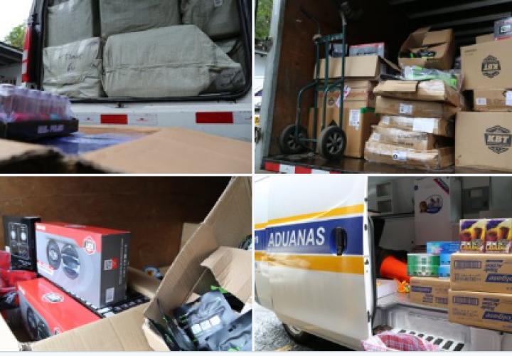 Retienen mercancía de contrabando en la autopista Panamá-Colón